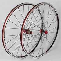MEROCA bicicleta de carretera 700C rodamiento sellado de fibra de carbono 6 pinzas ruedas llanta 11 velocidades soporte 1600g