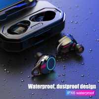 V5.0 auriculares inalámbricos auriculares Bluetooth 3000 mAh batería de gran inteligente luz de la respiración manos libres estéreo de auriculares con micrófono