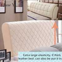 Janeyu de cama acolchado cubierta de la cabeza cubierta protectora polvo lavable cubierta 1.5m1.8m 2,0 m 2,1 m cama cubierta
