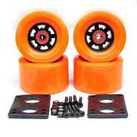 Livraison gratuite 90*52mm Longboard roues planche à roulettes électrique 78A roues ABEC-9 roulements bagues matériel joint pièces de planche à roulettes
