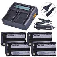 4 pièces 2600 mAh 54344 batterie Akku + Rapid LCD double chargeur pour Trimble 5700,5800, R6, R7, R8, TSC1 GPS récepteur Batteries