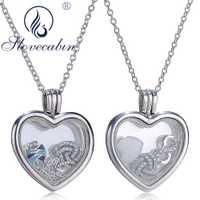 Collar de Gargantilla con colgante flotante corazón de plata de ley 925 genuina para mujer joyería de plata de alta calidad para mujer