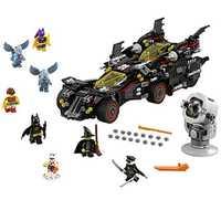 DC Super Hero el Ultimate Batmobile con ladrillo luz la película de BATMAN LegoSIM70917 bloque niños regalo modelo bloque de construcción juguete