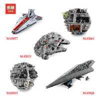 Educativos 2018 nuevo Star Wars 05077, 05151, 05046, 05083, 05131 Legoing 10179, 10221 de 75222 ladrillos bloques de construcción divertido juguetes de Navidad regalo