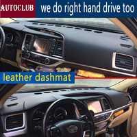 Pour Toyota Highlander Kluger 2014-2019 cuir Dashmat tableau de bord couverture Pad Dash Mat parasol tapis couverture 2015 2016 2017 2018