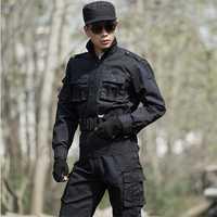 4XL envío gratis fuera del ejército táctico Militar Uniforme combate chaquetas + Pantalones tácticos negro abrigos trajes CS ropa militar