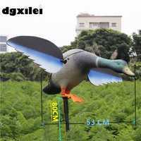 2017 Xilei venta al por mayor al aire libre ruso el Drake PE Material cebo caza pato señuelos simulación con imán alas giratorias