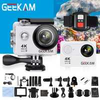 GEEKAM H9R Ultra HD 4 k cámara de acción Deportiva Cam 30 M impermeable casa montaje Wifi 170 de ángulo ancho mini cámara de deporte