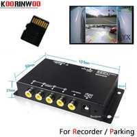 Koorinwoo panorámica sistema DVR caja 4 canales disponibles para visión trasera cámara frontal cámara trasera aparcamiento