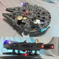 Juego de luces Led para lego 05132 y 75192 Star War Falcon Millennium Building Blocks modelo (no incluye juego de bloques)