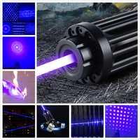 2019 nuevo de alta potencia de láser azul 100000 m 450nm láser puntero 1 w quemar puros de los papeles de alta potencia rayo gafas