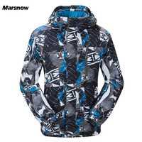 Marsnow hombres chaquetas de esquí de invierno térmica al aire libre impermeable a prueba de viento Snowboard chaquetas escalada hombre nieve esquí ropa de deporte