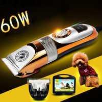 60 W pelo productos para mascotas perro cortador de pelo eléctrico profesional del pelo Clipper Trimmer pelo Epilator