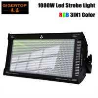 Gigertop 1000 W Cree LED luz estroboscópica para fiesta de discoteca dj luz de flash para la etapa luz del club mezcla de Color RGB blinder efecto