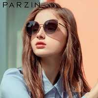 Gafas de sol PARZIN montura de Metal Vintage ojo de gato gafas de sol de nailon de calidad para mujer gafas de sol para damas nuevo 8201