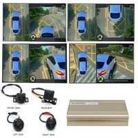 Smartour car système de surveillance de vue Surround 3D enregistreur DVR 360 degrés conduite caméra panoramique vue oiseau 4 ch avec capteur G