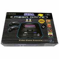 Nuevo personalizar 16bit Sega Mega Drive MD2 soporte tarjeta SD de 8 GB consola de Video juegos jugador Retro consola de Video juegos con 2 controlador