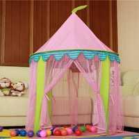 Casa de juego de mosquito de encaje de tul grande para niños y Castillo de princesa auténtica 1-2-3-6 años viejo