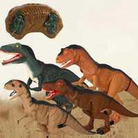 Infrarrojos RC mascotas electrónicas juguetes dinosaurio de Control remoto con agitación cabeza ojos claros y sonidos