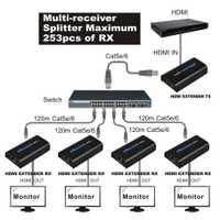 HDMI Splitter 1x4 1080 P HDMI Extender 1 TX a 4 RX por la red RJ45 Cat5e/6 LAN TCP IP Ethernet del extensor del divisor del HDMI para Xbox