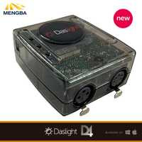 Etapa de Software de control DVC4 Daslight controlador Virtual DMX USB iluminación interfaz 1536 canales de salida con MiniSD