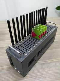Gran venta 16 puertos usb gsm modem pool MTK soporte IMEI cambio y SMS envío/recepción de sms a granel
