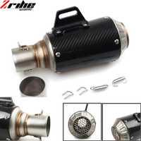 Universal 36-51mm escape modificado silenciador de la motocicleta tubo de escape de fibra de carbono para HONDA CBR 600 F3 F4 F4I VFR 750 800 CB500F