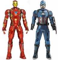 Puzzle 3D en métal pour Captain America/iron Man modèle bricolage Figure Statue Collectional éducatif Parent-enfant interactif enfants jouets