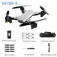 SG700-S RC helicóptero gran angular WiFi 1080 p flujo óptico doble cámara Selfie Drone Palma Control Quadcopter juguetes voladores vs xs809hw