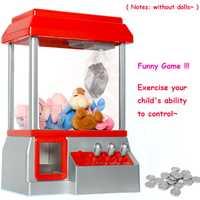 Los niños de la máquina de la garra de música caramelo Grabber moneda operado juego muñeca Mini Arcade máquina expendedora de la máquina sin juguetes regalo para los niños