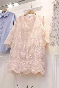 Vestido de encaje rosa para las mujeres harajuku