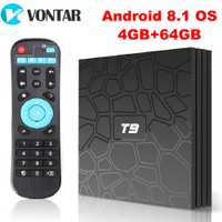 2018 VONTAR T9 TV Box Android 8,1 4 GB 32 GB 64 GB Smart TV prefijo Rockchip RK3328 1080 P h.265 4 K GooglePlay reproductor de medios PK H96max