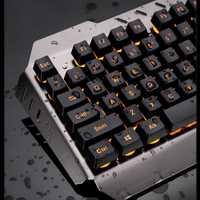 M938 retroiluminado LED Usb ergonómico teclado de juego + Gamer ratón + Mouse Pad 8,13