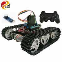 Debe de Control inalámbrico RC inteligente Robot Kit de PS2 joystick tanque del chasis del coche con Uno R3 Shield de Motor de juego playstation