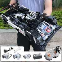 Briques de voiture CADA Endurance RC compatibles avec la technologie MOC modèle blocs de construction télécommandés jouets de course de voiture pour les enfants