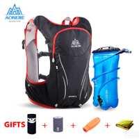 AONIJIE al aire libre deportes Trail Running mochila 5L Marathon hidratación chaleco Pack para 1.5L bolsa de agua Super ligero ciclismo senderismo bolsa