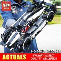 2018 técnica Series nuevo educativos 23018 Moc 5530 híbrido Super coche de carreras educativos juguetes de bloques de construcción ladrillos DIY para los niños