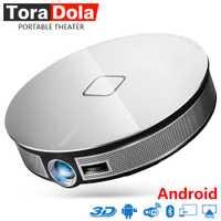 TORA DOLA inteligente proyector HD 1280*720 p de resolución ¡Construir en wifi Android 12000 mAh de la batería teatro soporte 4 K activo 3D! D8S