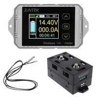 DC 120 V 50A ~ 300A inalámbrico amperímetro de KWh vatios medidor de batería de coche Coulometer Z1026