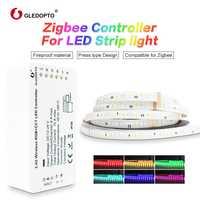 G LED OPTO zigbee Zll lien intelligent LED Bande Ensemble Kit rgb + cct ZIGBEE contrôleur pour RGB + CCT bande imperméable à l'eau lumière travail avec alexa