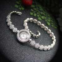 Mujer reloj de pulsera de lujo de las mujeres relojes de movimiento de cuarzo reloj de pulsera de joyería de banda H-2001