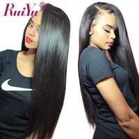 Peluca peruana del pelo humano del frente del cordón pelucas recto peluca delantera de encaje para las mujeres negras RUIYU pelucas largo Remy del pelo 10 -26 pulgadas, puede ser teñido