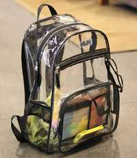 Mochilas de PVC transparentes impermeables a prueba de agua con estilo coreano para hombre, bolso de playa para mujer, mochila para estudiantes, mochilas femeninas, mochila para mujer