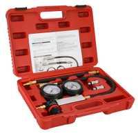 Compresión fugas Kit Set Auto probador de fugas del cilindro motor de gasolina Gauge Tool Kit doble calibre con caja