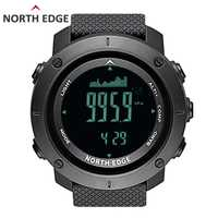 En el borde norte de los hombres deporte Digital Reloj horas corriendo natación ejército militar relojes altímetro barómetro brújula impermeable 50 m