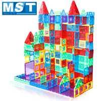 98 piezas de Color claro imán de construcción de azulejos de juguete para niños bloques magnéticos 3D juguetes de construcción para niños