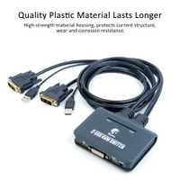 DVI KVM botón conmutador 2 puerto USB HDMI Cable KVM Switch Cable de Video y Periférico USB compartir soporte HD resolución