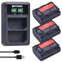 3 pièces NP-FZ100 NP FZ100 NPFZ100 Batterie + NP FZ100 LED Double Chargeur De Batterie pour SONY ILCE-9 A7m3 a7r3 A9 7RM3 BC-QZ1 Caméra