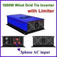 1kw 1000 W inversor de la rejilla con carga de descarga para 3 Fase AC turbina de viento de lazo de la rejilla inversor 24 V 48 V 72 v de entrada MPPT de onda sinusoidal pura