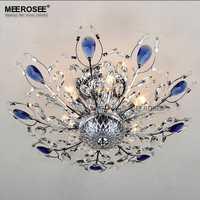 Hermoso diseño de lámpara de techo lámpara de Lustres de cristal para sala de estar dormitorio cristal lámpara de techo iluminación del hogar